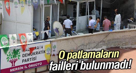 HDP binalarına gönderilen bombaların failleri bulunmadı!