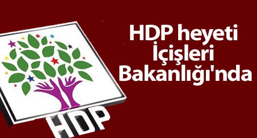 HDP heyeti İçişleri Bakanlığı'nda