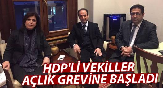 HDP'li vekiller Bakanlık'ta açlık grevine başladı