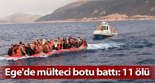Yunanistan açıklarında mülteci botu battı: 11 ölü