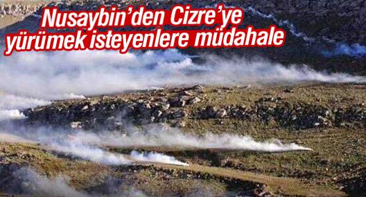 Nusaybin'den Cizre'ye yürümek isteyenlere müdahale