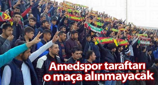 Bursaspor maçına, Amedspor taraftarı alınmayacak