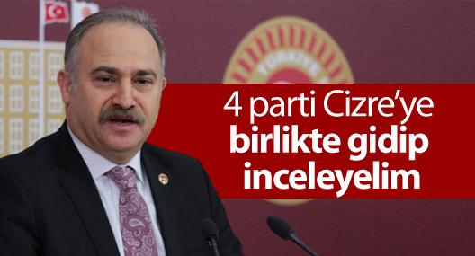 CHP'li Gök: 4 parti Cizre'ye birlikte gidip inceleyelim