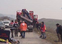 Cenaze yolunda kaza: 6 ölü