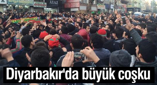 Amedspor'un Bursaspor galibiyeti sonrası Diyarbakır'da büyük coşku