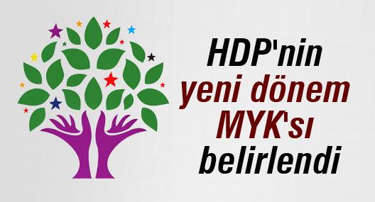HDP'nin yeni dönem MYK'sı belirlendi