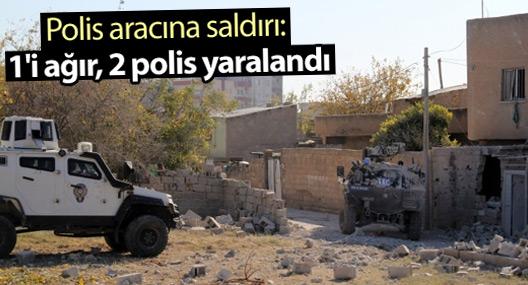 Polis aracına saldırı: 1'i ağır, 2 yaralı