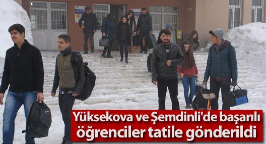 Yüksekova ve Şemdinli'de başarılı öğrenciler tatile gönderildi