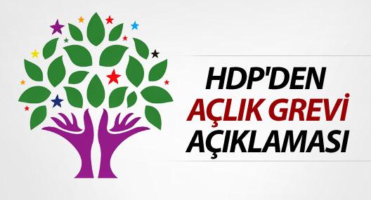 HDP'den açlık grevi açıklaması