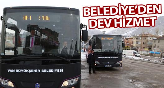 Van-Özalp ve Van-Saray ilçelerine otobüs seferleri başladı