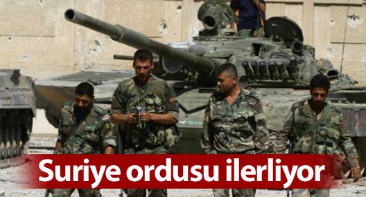Suriye ordusu Halep'in kuzeyinde ilerliyor