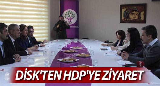 DİSK'ten HDP'ye ziyaret