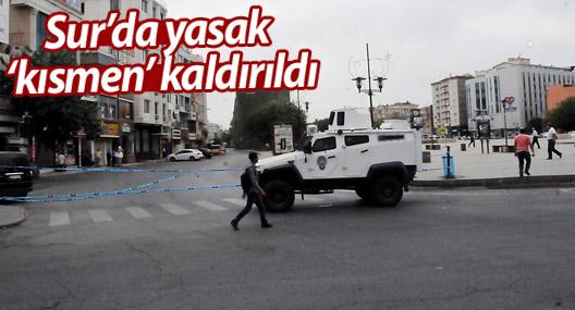 Sur'da 9 mahallede yasak kaldırıldı, 6 mahallede sürüyor