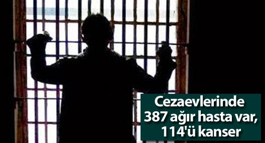 Cezaevlerinde 387 ağır hasta var, 114'ü kanser