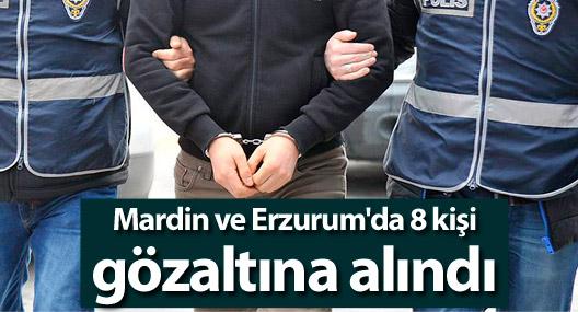 Mardin ve Erzurum'da 8 kişi gözaltına alındı