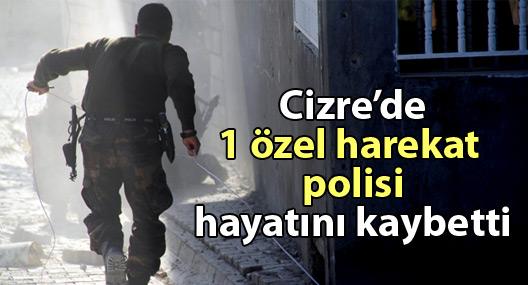 Cizre'de bir özel harekat polisi hayatını kaybetti