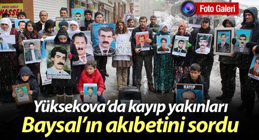 Yüksekova'da M. Sıddık Baysal'ın akıbeti soruldu