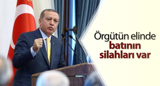 Erdoğan: Örgütün elinde batının silahları var