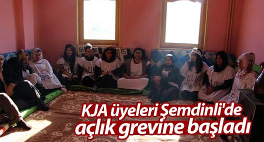 KJA üyeleri Şemdinli'de açlık grevine başladı