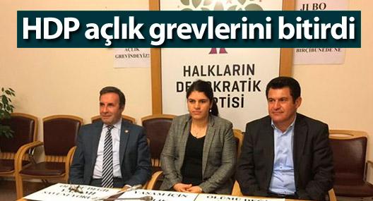 HDP açlık grevlerini bitirdi