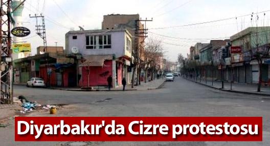 Diyarbakır'da Cizre protestosu