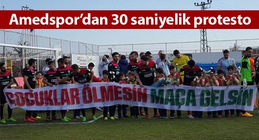 Amedspor'dan 30 saniyelik protesto