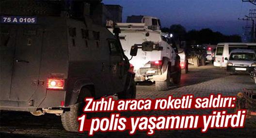 Polis aracına roketatarlı saldırı: 1 polis hayatını kaybetti