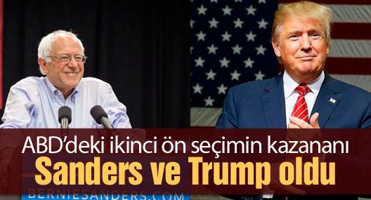 ABD'deki ikinci ön seçimin kazananı Sanders ve Trump oldu