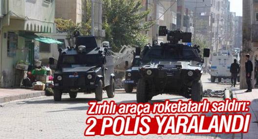 Zırhlı araca roketatarlı saldırı: 2 polis yaralandı
