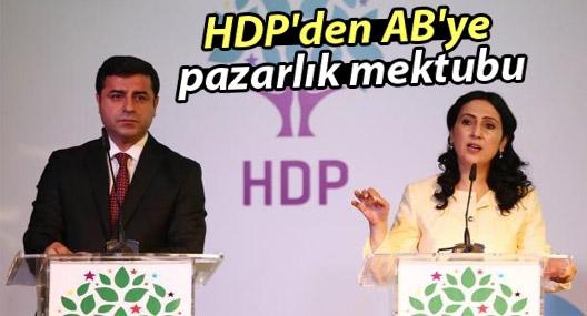 HDP'den AB'ye pazarlık mektubu