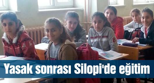 Yasak sonrası Silopi'de eğitim