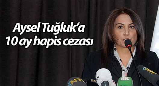 Aysel Tuğluk'a 10 ay hapis cezası