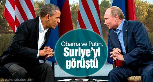 Obama ve Putin, Suriye'yi görüştü