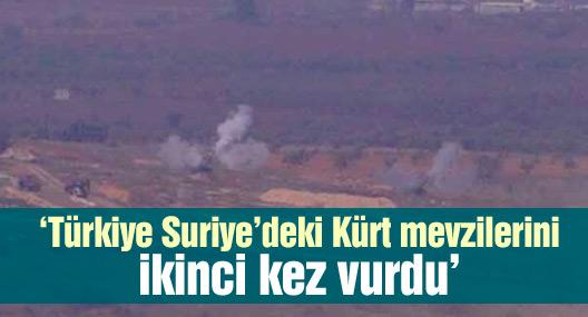 'Türkiye Suriye'deki Kürt mevzilerini ikinci kez vurdu'