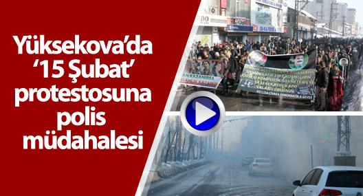 Yüksekova'da '15 Şubat' yürüyüşüne müdahale