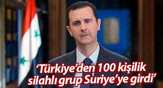 Şam yönetimi: Türkiye'den 100 kişilik silahlı grup Suriye'ye girdi
