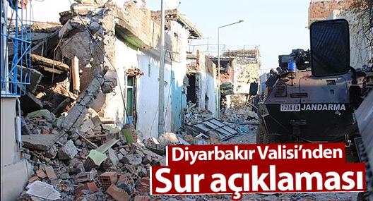Diyarbakır Valisi'nden Sur açıklaması