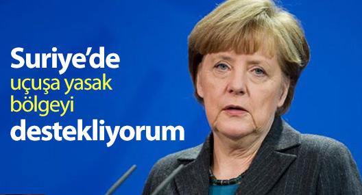 Merkel: Suriye'de uçuşa yasak bölgeyi destekliyorum