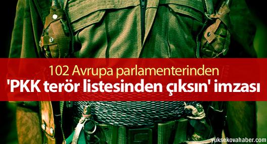 102 Avrupa parlamenterinden 'PKK terör listesinden çıksın' imzası