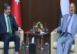 Davutoğlu, Yemen Cumhurbaşkanı ile görüştü