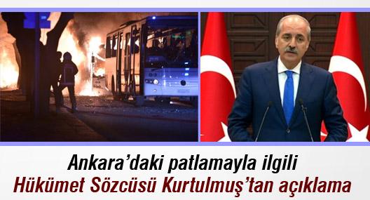 Ankara'daki patlamaya ilişkin Hükümet Sözcüsü'nden açıklama