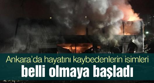 Ankara'da hayatını kaybedenlerin isimleri belli olmaya başladı