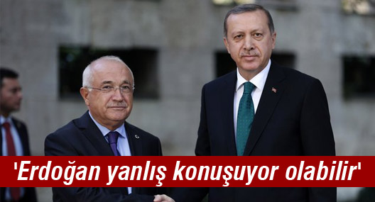 Cemil Çiçek: 'Erdoğan yanlış konuşuyor olabilir'