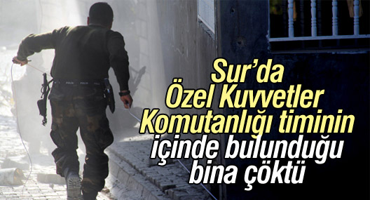 Sur'da Özel Kuvvetler Komutanlığı'nın içinde bulunduğu bina çöktü