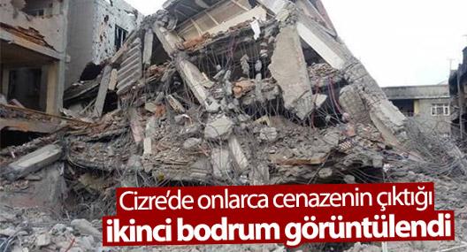 Cizre'de onlarca cenazenin çıktığı ikinci bodrum görüntülendi