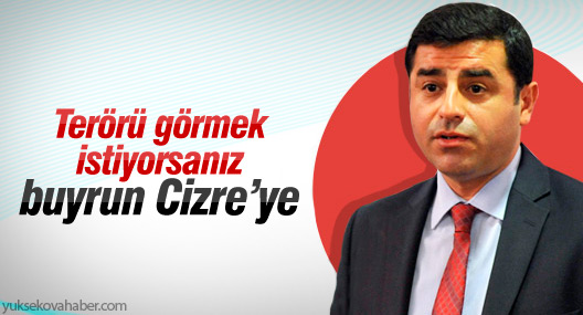 Demirtaş: Terörü görmek istiyorsanız buyrun Cizre ve Sur'a