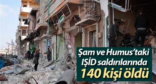 Şam ve Humus'taki IŞİD saldırılarında 140 kişi öldü