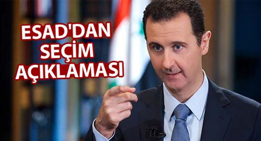 Esad'dan seçim çağrısı
