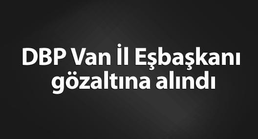 DBP Van İl Eşbaşkanı Duman gözaltına alındı