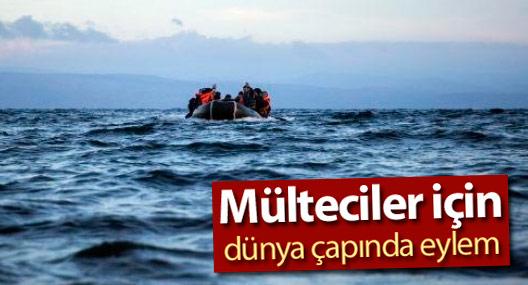 Mülteciler için dünya çapında eylem